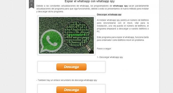 ¿Una aplicación para espiar conversaciones de WhatsApp?
