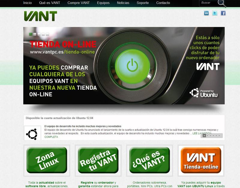 edc7b4176a7a La firma española Vant ha abierto una nueva tienda on-line para  comercializar sus equipos con Unbuntu Linux. Esta firma ha apostado desde  sus orígenes por ...
